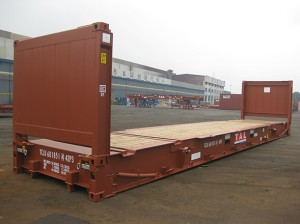 Shipping Container Types- Flat Rack Container