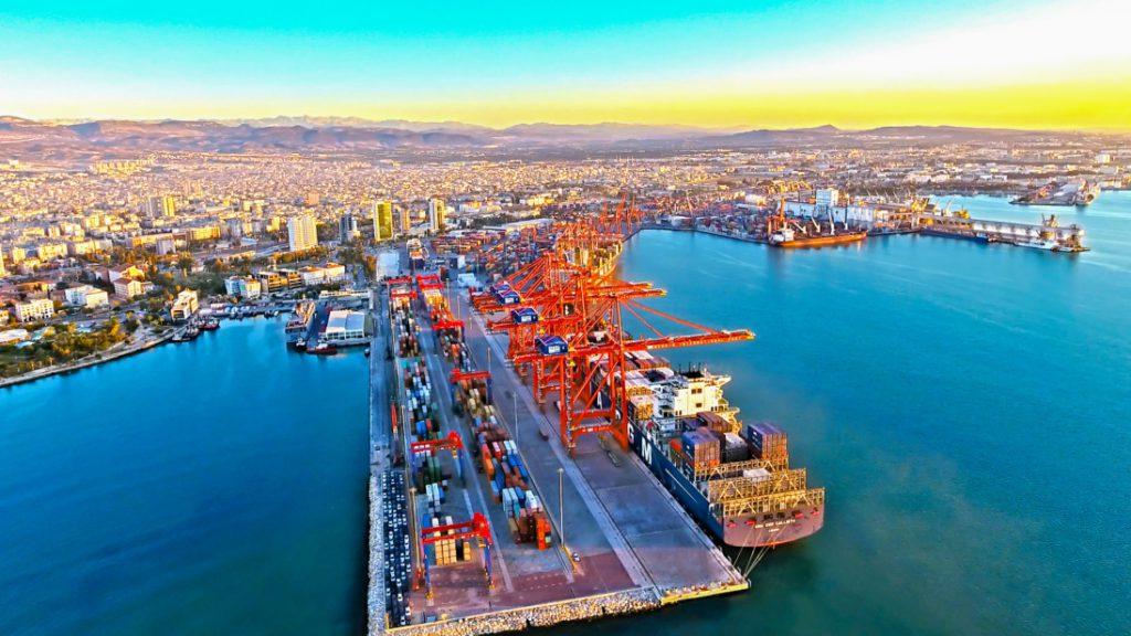 Port of Mersin in Turkey