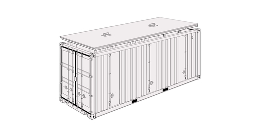 New Hard top containers