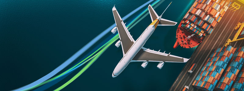 Air freight transport vs Sea freight transport