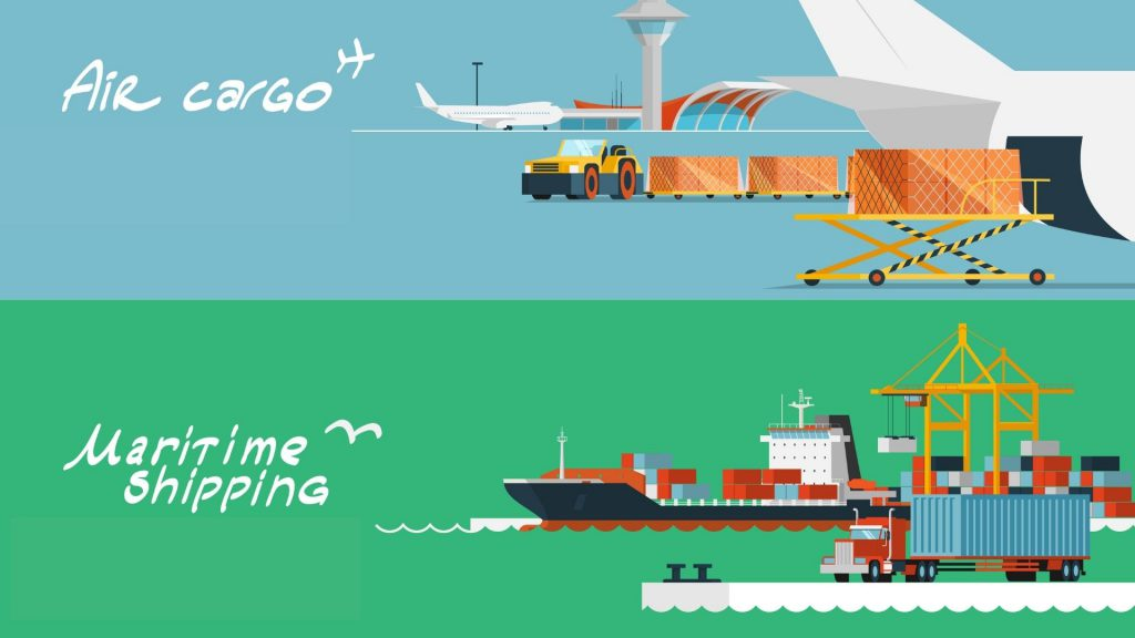 air and sea freight from china to United arab emirates