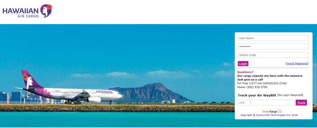 Air Cargo Tracking (Hawaiian)