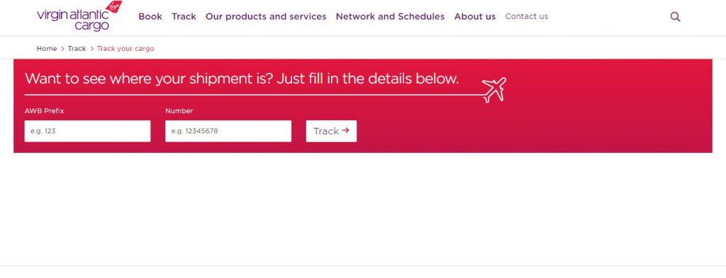 Air Cargo Tracking (Virgin Atlantic)