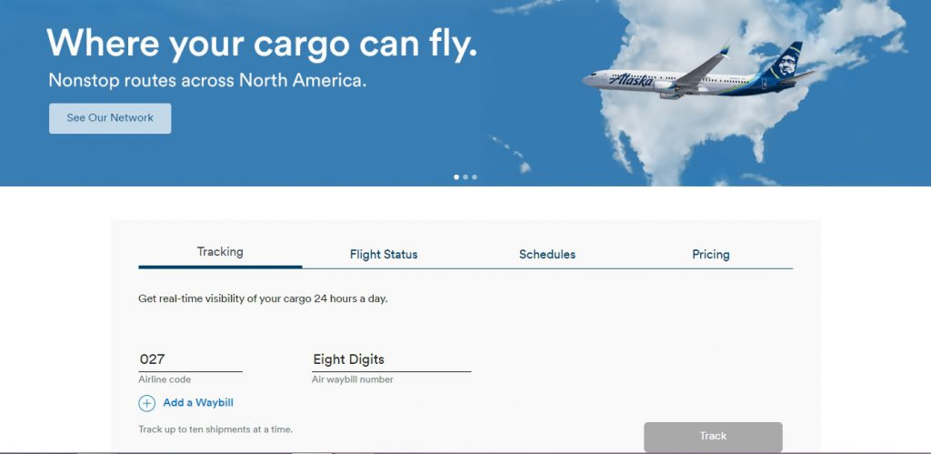 Air Cargo Tracking (Alaska Airlines)