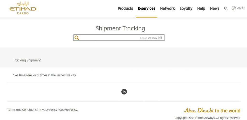 Air Cargo Tracking (Etihad)