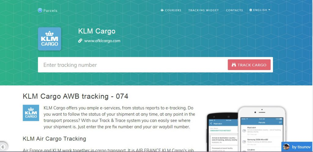Air Cargo Tracking (KLM)