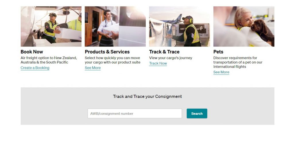 Air Cargo Tracking (New Zealand)